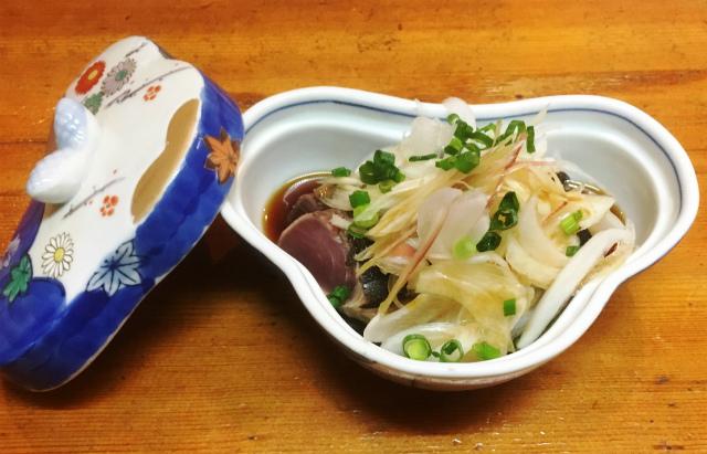 小料理j海谷「鰹のたたき」